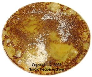 Crêpe with butter and sugar