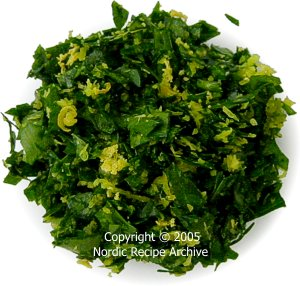 Gremolata is an Italian mixture of finely chopped parsley, garlic and ...