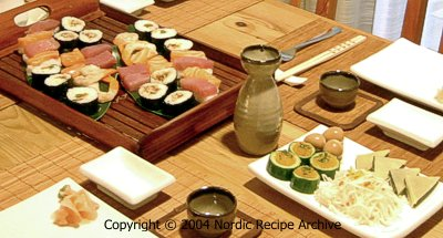 sushi table setting